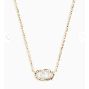 Kendra Scott Elisa GOLD Oval Necklace Ivory Pearl